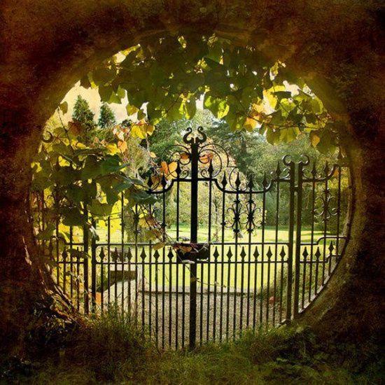 Beautiful garden threshold