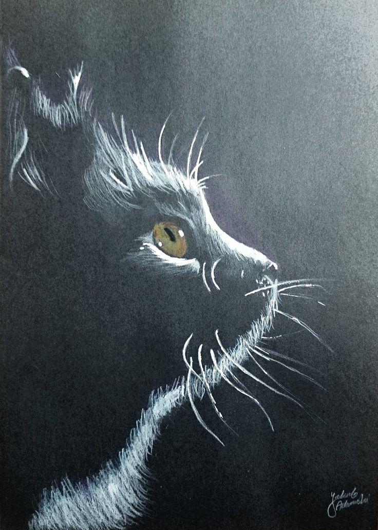 Cat drawing by JakubQaazAdamski.deviantart.com on @DeviantArt