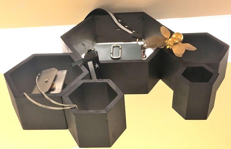 Display Units with Handbags at Harvey Nichols.