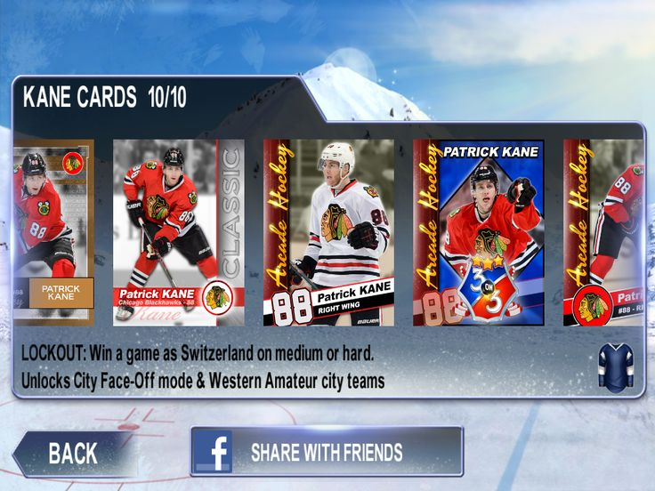 Claim all the achievements and unlock KANE cards to show the fellow hockey hounds just exactly who runs this rink.