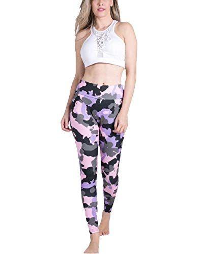 Targogo Leggings Damen Mode Unifarben High Waist B…