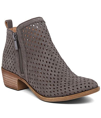 Lucky Brand Basel 3 Side Zip Booties #Dillards