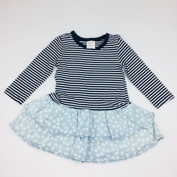 SEED, baby girl's long-sleeved dress, good pre-loved condition (GUC), size 6-12 months, $16