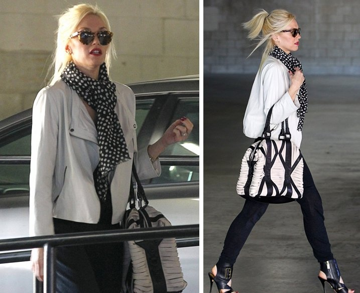 gwen stefani in black and white
