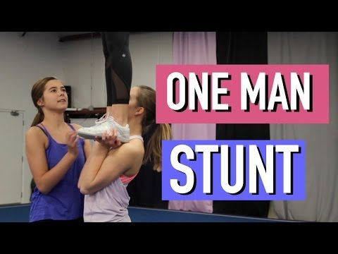 One Man, Rewind Down - Cheer Stunt - YouTube