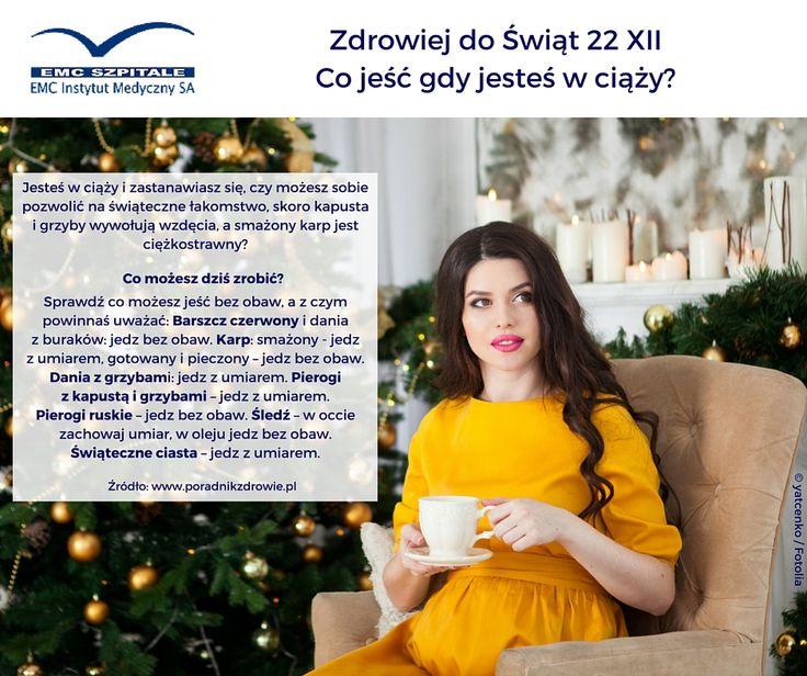 Jesteś w ciąży i masz wątpliwości, które dania w świątecznym menu możesz jeść bez obaw? Sprawdź! #zdrowiejdoswiat #ciaza #dieta #zdrowie #swieta #christmas #menu #grudzien #december #relaks #spokoj #radosc #szczescie #dbajozdrowie #dbajosiebie #emc #emcszpitale