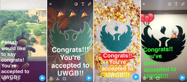 University of Wisconsin is letting students know they got in via Snapchat. #snapchat #hr #university #education