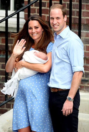 Prince William also revealed that he had changed their son's first diaper!