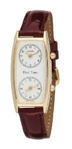 Gotham Womens Gold Tone Leather Gwc15091gb