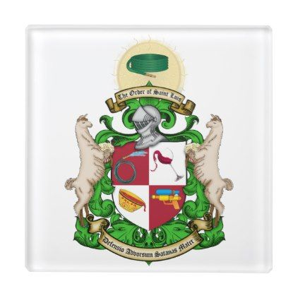 #Order of St. Luis Coat of Arms Coaster - #WeddingCoasters #Wedding #Coasters Wedding Coasters