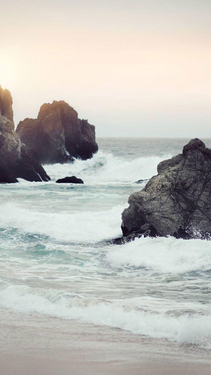Rocky Beach ★ Preppy Original 28 Free HD iPhone 7 & 7 Plus Wallpapers