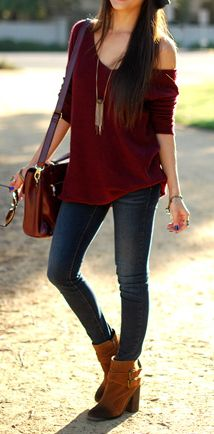Slouchy sweater & booties