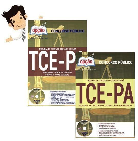 Conquiste sua Aprovação no Concurso do Tribunal de Contas do Estado do Pará (TCE-PA) 2016, estudando com nossas Apostilas preparatorias dos cargos Auxiliar Técnico do Controle Externo - Administrativo e Auditor de Controle Externo - Comum a Todas as Áreas. São 93 vagas com remuneração de R$ 3.154,60 a R$ 6.260,22 e carga horária de 20 a 30 horas semanais. O candidato deve possuir nível médio ou superior.