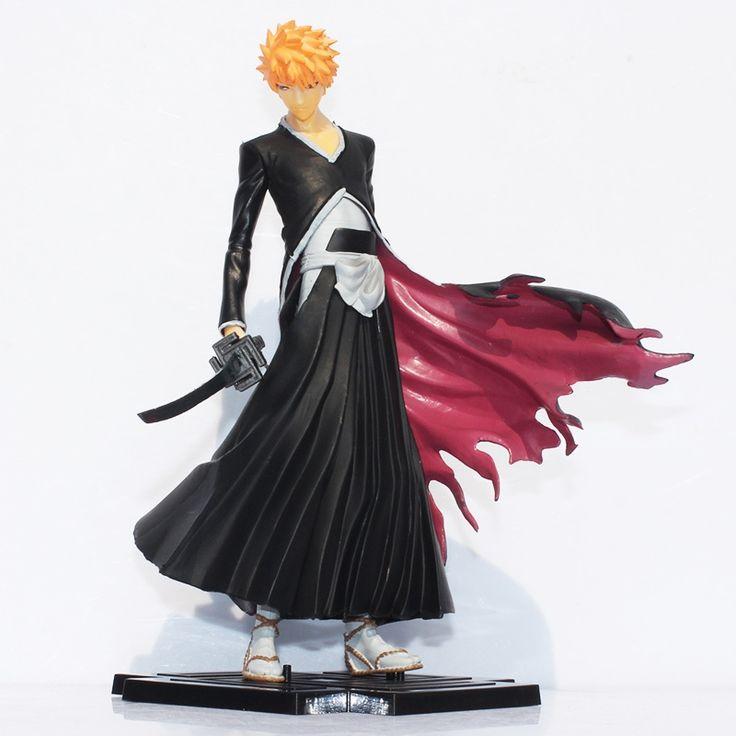 18.45$  Buy now - http://alip7k.shopchina.info/go.php?t=32680964779 - Free shipping 19cm Japana anime Bleach Figure Toy Kurosaki Ichigo PVC Action figures toys 18.45$ #buymethat