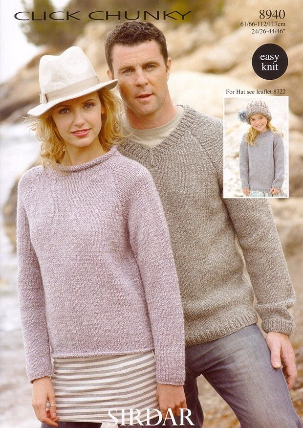Sweaters in Sirdar Click Chunky - 8940 - Men - For - Patterns