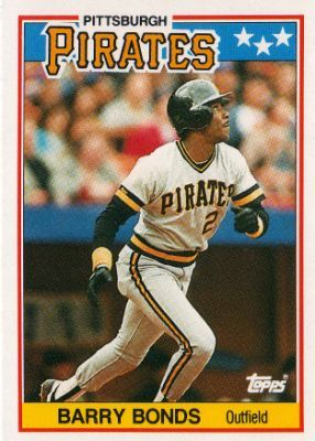 barry bonds pirates baseball card | ... PIRATES - Barry Bonds #5 ...