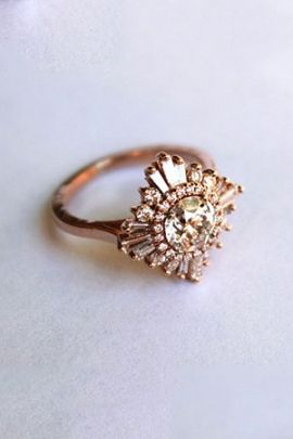 white sapphire ring artdeco gatsby