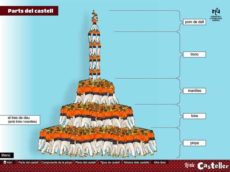 Parts del castell #castellers El tres de deu amb folre i manilles