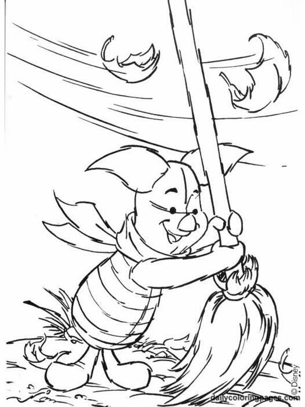 Winnie The Pooh Fall Coloring Pages 02 Png 600 800 Fall Coloring Pages Disney Coloring Pages Coloring Pages
