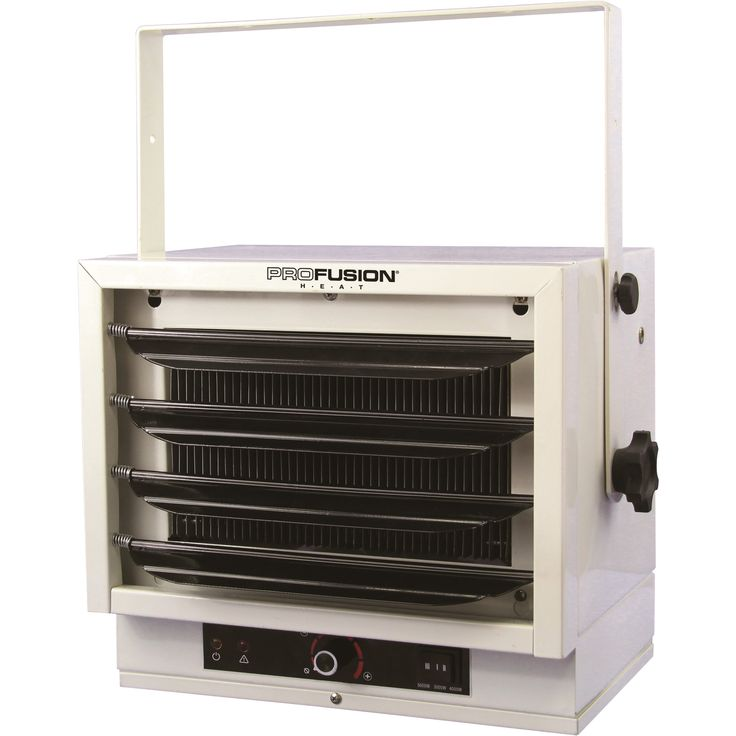 This ProFusion Heat Ceiling-Mount Shop Heater offers powerful and efficient heat for garages, basements, warehouses or construction sites.