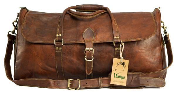 Leather Duffle Bag Denver