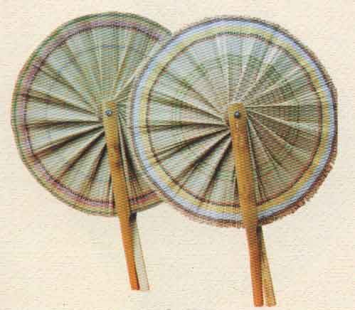 indian hand fan clipart. cane and bamboo hand fan indian clipart