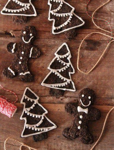 gluten free vegan espresso and teff christmas cookies