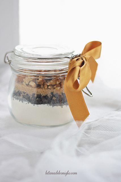 RICETTA cookies in a jar - cioccolato e noci