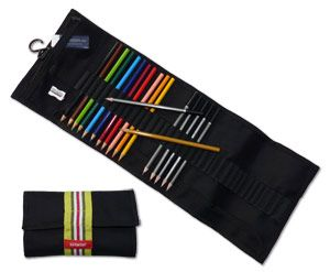 Artifolk Black Pencil Wrap, Pencils and Accessories Set (1044)
