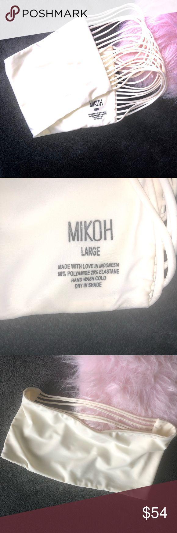 Mikoh Strappy Bandeau Bikini Top Women's Swim Bra Mikoh Strappy Bandeau Bikini …