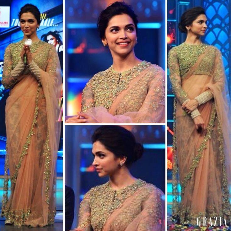 Deepika Padukone wearing Sabyasachi