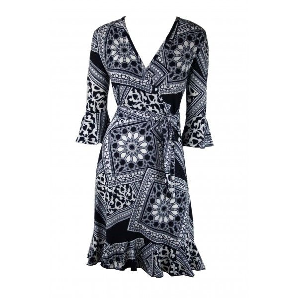 Zanthus Abstract Print Jersey Dress