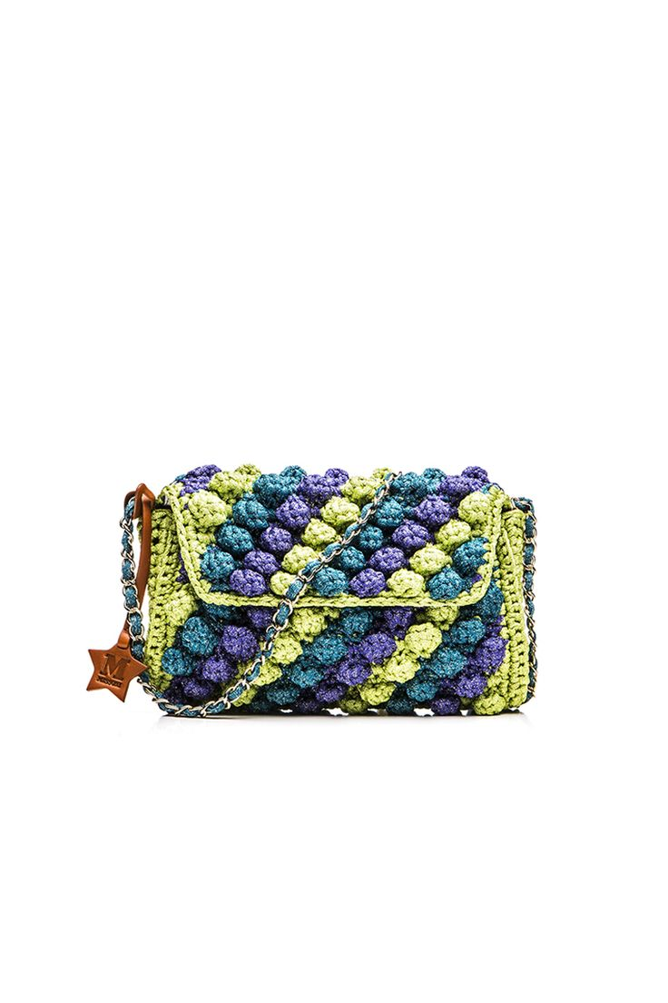 M-Missoni - MULTICOLOR RAFFIA SHOULDER BAG