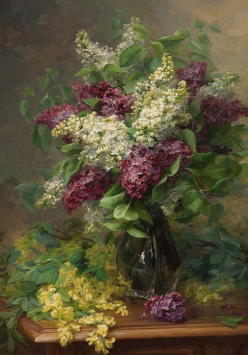 Цветы в вазе (сирень и жёлтая акация) :: Лео Луп (Leo Louppe)