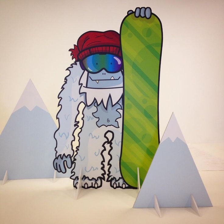 My illustration for Snow+Rock of 'Dave the Yeti'