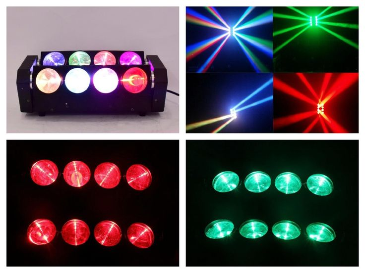 1pcs/lot, LED Spider Light Beam 8x10w RGBW 4in1 / White Cree moving head spider light club night disco dj stage wedding