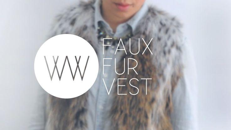 How to Make a Faux Fur Vest (+playlist)