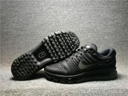Superior Quality Nike Air Max 2017 USA All Black Men's Running Sneakers Shoes 855615 995