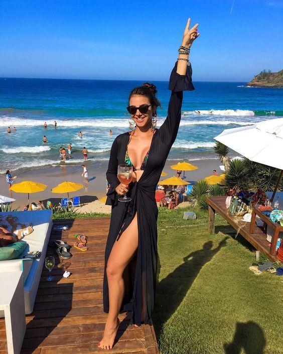 Saída de praia: 30 inspirações para você testar - Guita Moda   Looks, Roupas para relaxar na praia, Ideias fashion
