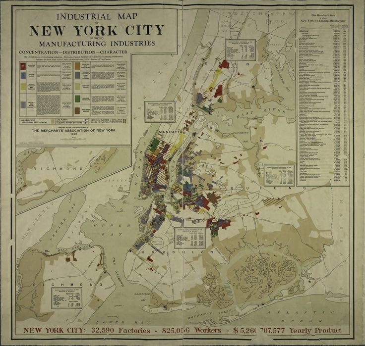 1919 Map Of New York City S Manufacturers Shows A Bygone Industrial Landscape