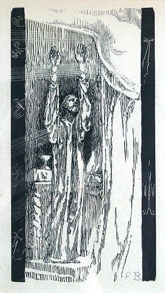 František Bílek  Nejvyšší spravedlnost  dřevoryt, 1918