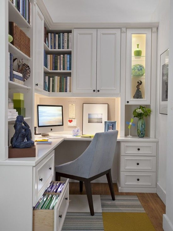 Small White Home Office Decoration Ideas. This Is The One I Am Looking To  Duplicate In My Office.