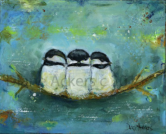 bird painting chickadees by diane ackers diane ackers pinterest photos chickadees and. Black Bedroom Furniture Sets. Home Design Ideas