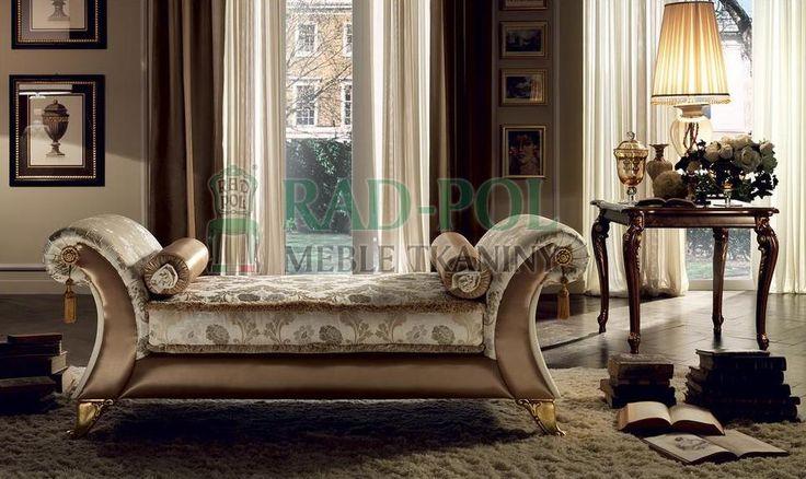 Szezlong-Vittoria - Szezlongi - Rad-Pol - Meble Stylowe, meble włoskie, klasyczne meble retro, sofy stylowe, narożniki