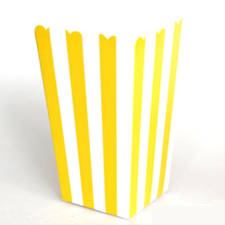 High Quality 6pcs Stripe Stiff Paper Party Popcorn Boxes Pop Corn Candy/Sanck Favor Bags Wedding Birthday Movie Party Tableware #Affiliate