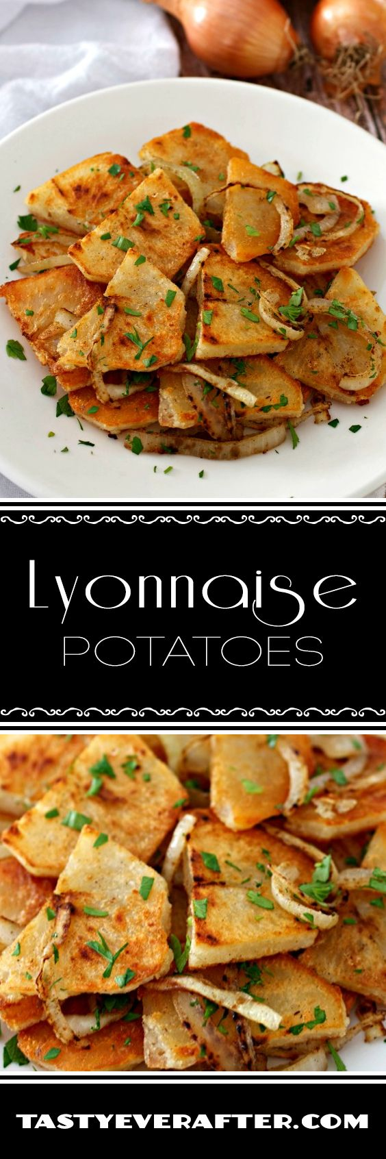 Classic and easy recipe for the French side dish of crispy potatoes and onions.  Made with organic potatoes from @BJsWholesale