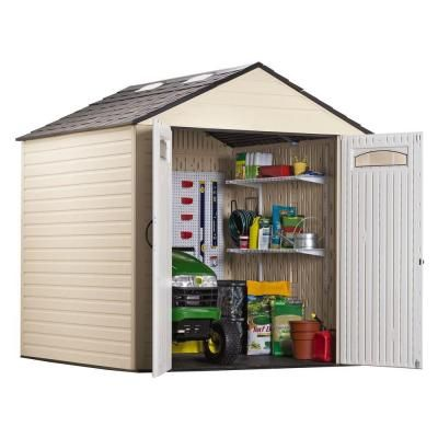 Rubbermaid 7 ft. x 7 ft. Plastic Storage Shed-FG5H8000SDONX - The Home Depot