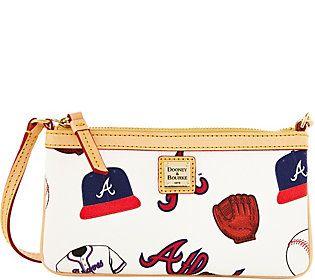 Dooney & Bourke MLB Braves Large Slim Wristlet