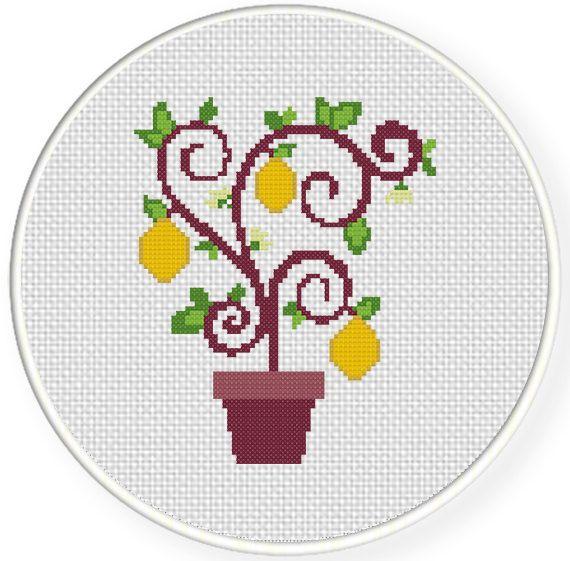 Charts Club Members Only: Lemon Tree Cross Stitch Pattern