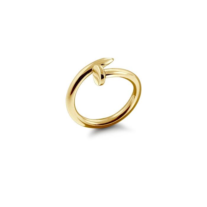 Solid 14k Gold Nail Ring